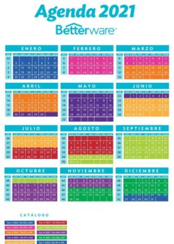 Calendario Betterware 2021